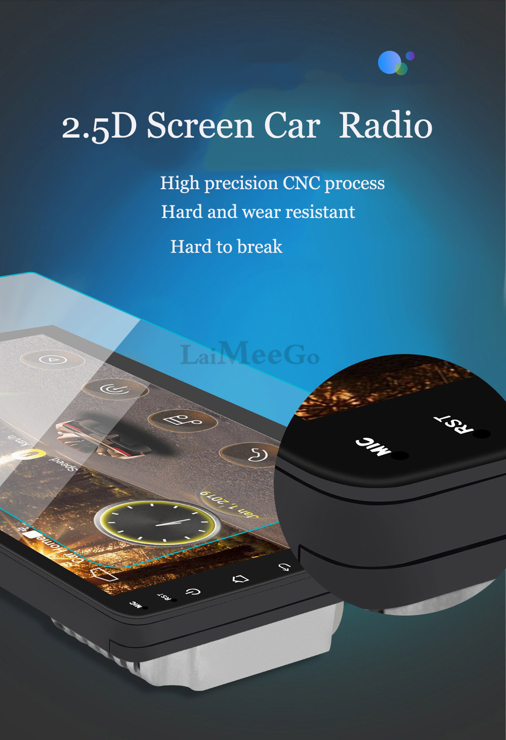2din Car radio 9 10.1inch Android system Auto stereo 2.5D Capacitive Screen Bluetooth WIFI GPS Quad Core For Universal Car  (3)