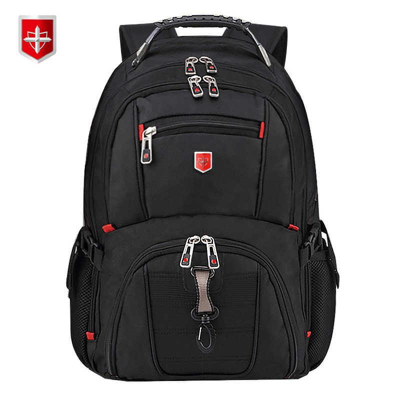 Mochila suiza para hombre de 15,6/17 pulgadas, bolsas de viaje para la escuela para ordenador portátil, mochila Unisex de gran capacidad, mochila de negocios impermeable