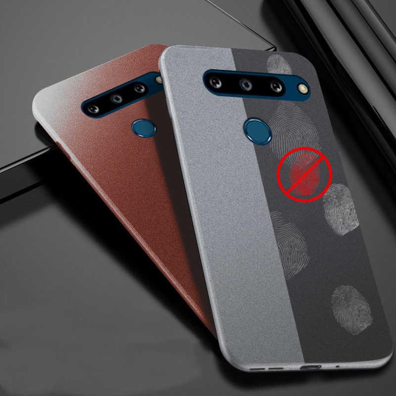Yishangou Gevallen Voor Lg G8X Thinq G8 G5 G6 G7 V30 V40 K40 Slim Soft Silicone Zandsteen Skin Matte Ultra dunne Tpu Cover Twee Camera