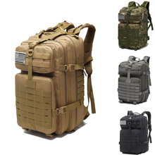 Outdoor Military Molle Backpack Oxford 45L Waterproof Tactical Backpack Sports Camping Hiking Trekking Backpack Hunting Bags rasputin item over5 lc backpack pencott greenzone military tactical backpack molle system free shipping sku12050393