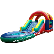 Customized water slide pool inflatable slide kids adult size for sale professional manufacturer new used water slide kids inflatable water slide with pool for sale