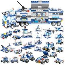 762 pçs blocos de construção conjunto 8 em 1 robô aeronave carro cidade polícia swat criador playmobil juguetes brinquedos educativos para crianças