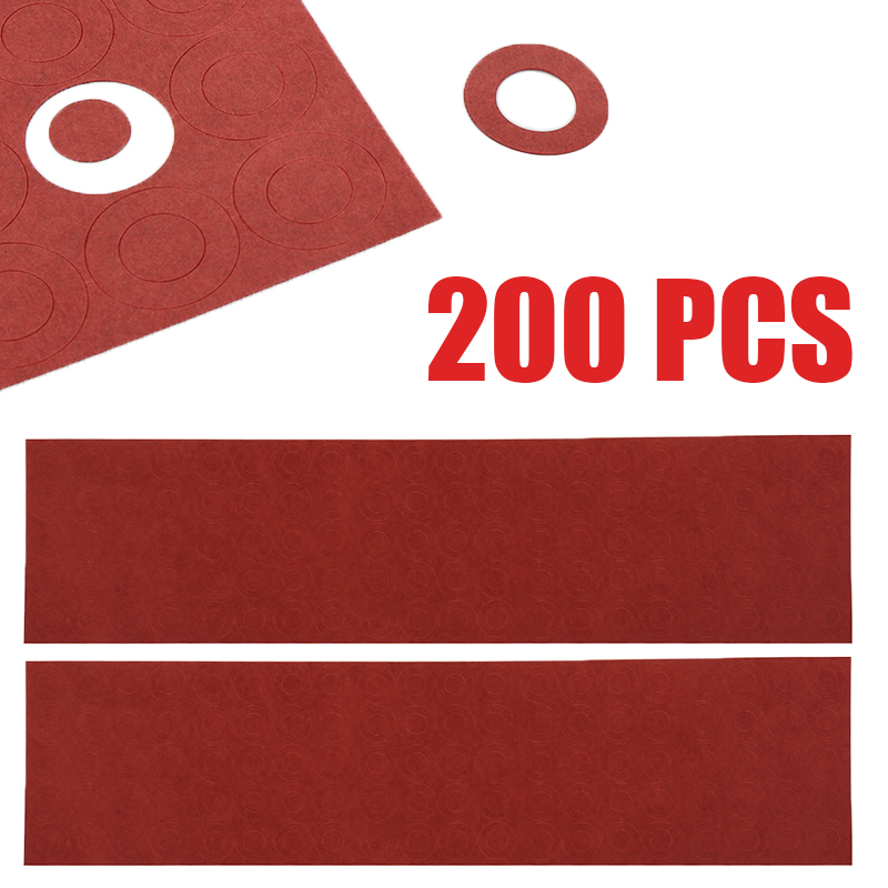 200pcs 18650 Battery Positive And Negative Electrode Insulated Adhesive Cardboard Paper For 18650 Cell Insulation Gasket Ring