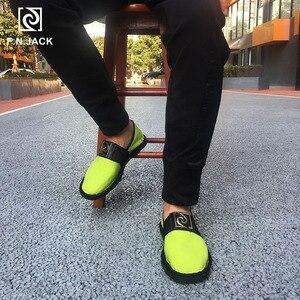 Image 4 - F.N. שקע עיסוי מדרסים גברים של נעלי בד מזדמן גומי נעל Masculino חכם סנדלי בד Scarpe גברים Vip קישור Zapatillas hombre