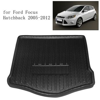 UXCELL Rear Car Trunk Tray Boot Liner Cargo Floor Mat Cover for Ford Fiesta Focus Hatchback 2005-2018 for Ford Focus Sedan 12-17 image