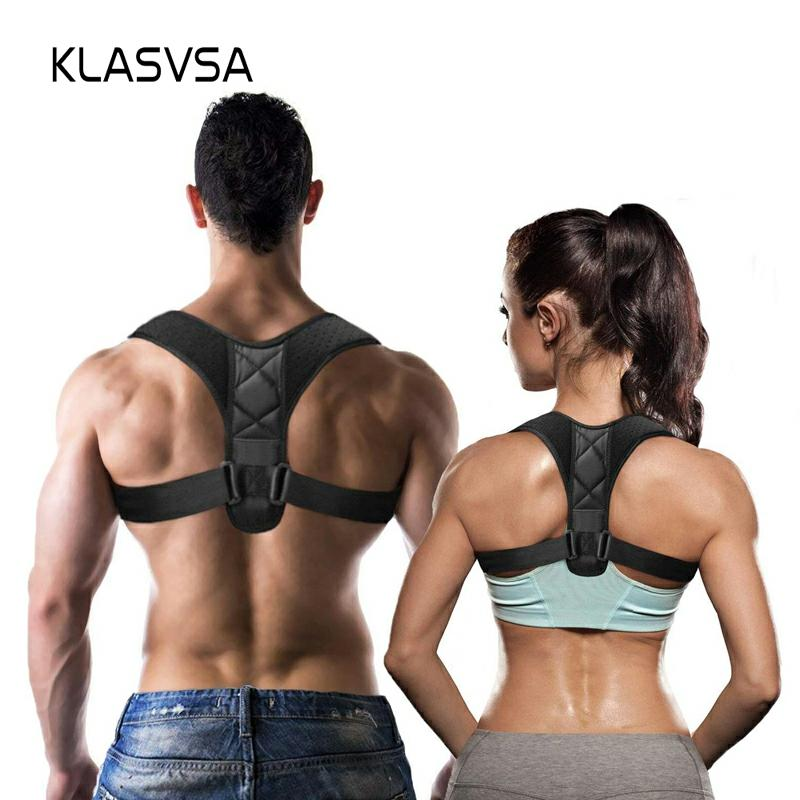 KLASASV Adjustable Posture Corrector Braces Supports Back Straightener Clavicle Spine Back Shoulder Lumbar Posture Correction