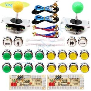 Image 5 - Arcade joysticks 2 Players DIY Kit Zero Delay USB Encoder sanwa Joystick 33mm LED Button PC Mame Raspberry pi 1 2