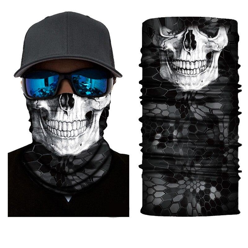 Polyester Balaclava Magic Scarf Neck Face Cover Ghost Skull Skeleton Head Bandana Shield Headband Headwear Bandanas Men Bicycle|Men