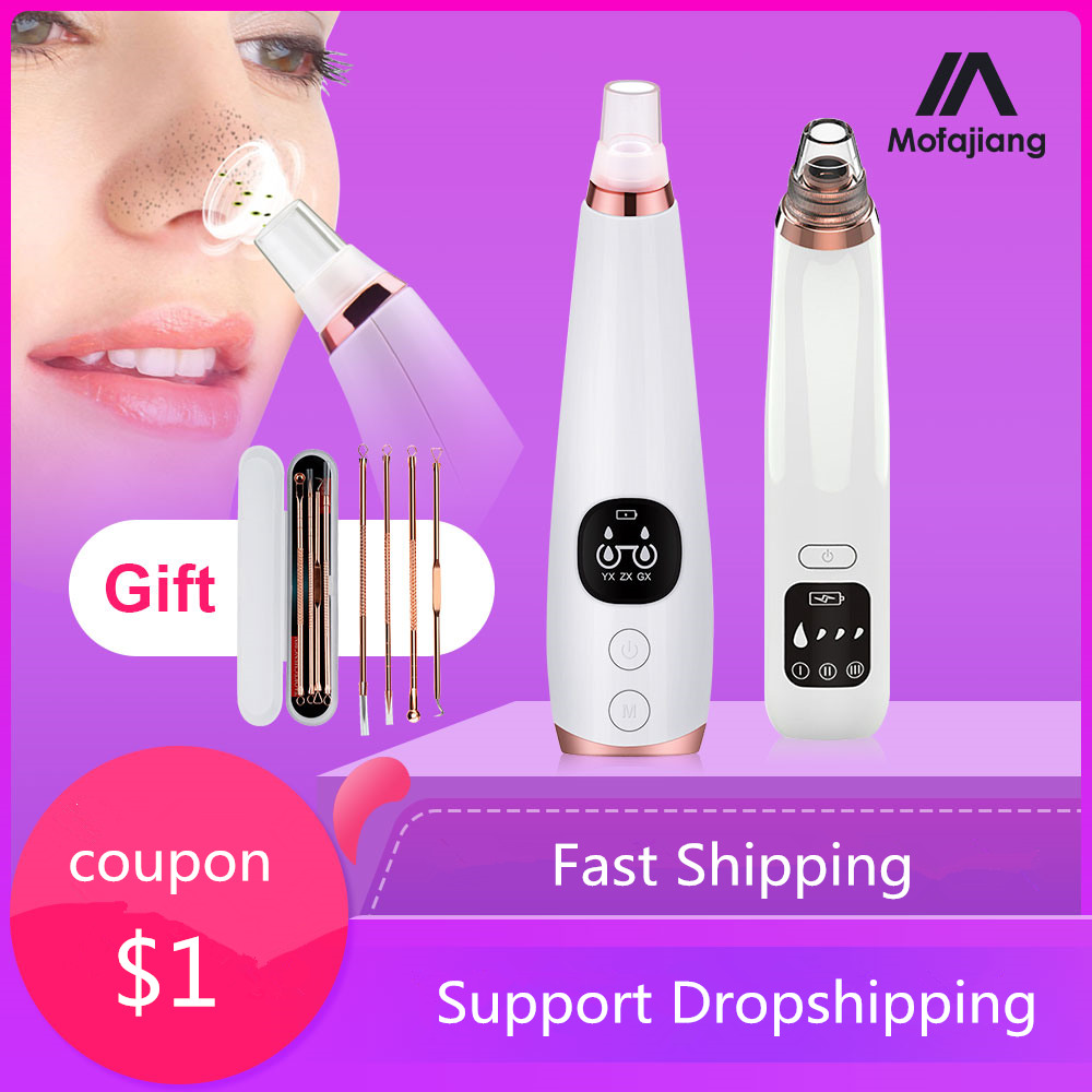 Blackhead Remover Vacuum Pore Cleaner Electric Nose Face Deep Cleansing Skin Care Machine Birthday Gift Dropshipping Beauty Tool