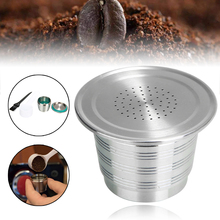Coffee Capsule Filter Kit  Coffee Machine Capsule Filling Filter Dripper Refillable +Spoon Brush Coffeeware Tool Stainless Steel цена 2017