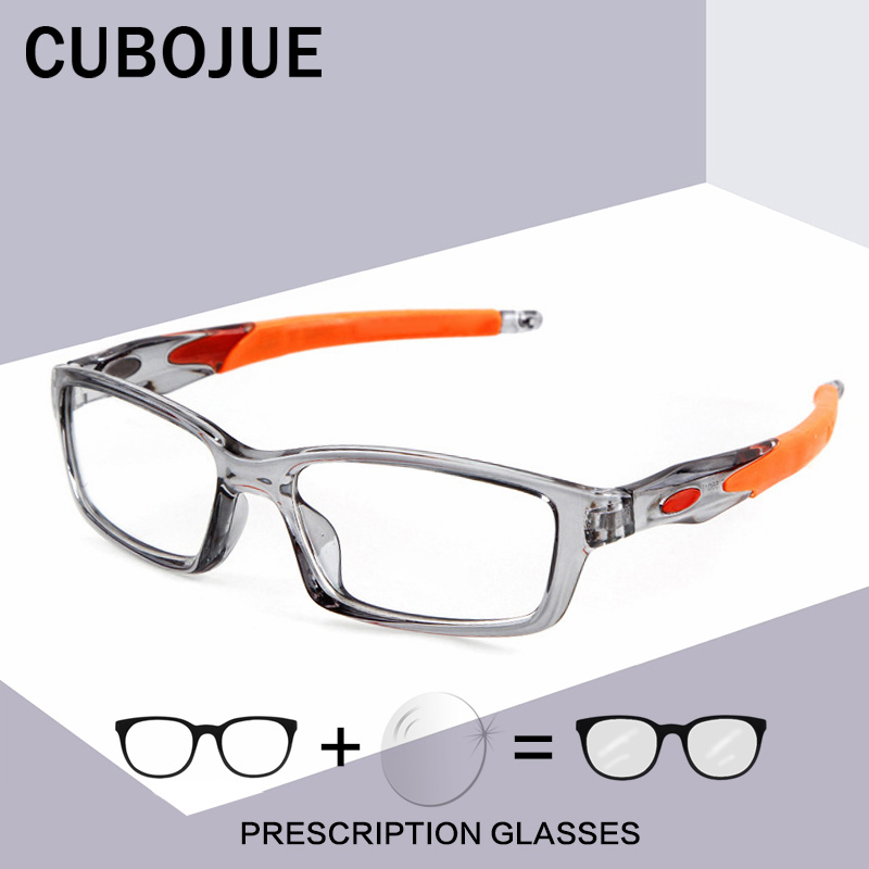 Cubojue Sports Glasses Frame Men Women Eyeglasses Man Degree Optical Prescription Spectacles Clear Lens Anti Slip Eyewear