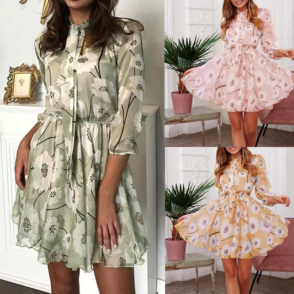 Flapper Jurk Kate Middleton Vrouwen Jurk Mode Lente Zomer Tie Bloemenprint Ruches Zoom Jurk Vestido Lentejuelas