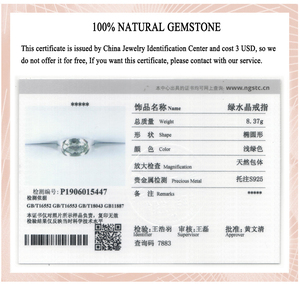 Image 5 - Hutang Womens Ring 6.30ct Natural Green Amethyst Wedding Rings 925 Sterling Silver Gemstone Fine Elegant Classic Jewelry Gift
