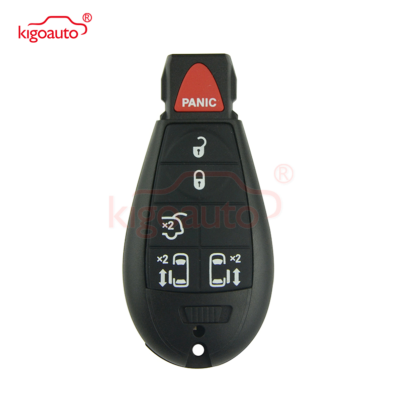 Kigoauto #9 Fobik key remote shell 5 button with panic  IYZ C01C for Dodge Grand  Caravan key replacement 2009 2010 2011 2012 Burglar Alarm     - title=
