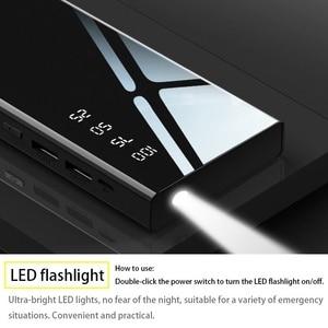 Image 5 - Banco de energía de 30000mAh, espejo, batería externa, pantalla Digital LCD, iluminación LED, cargador de teléfono móvil portátil, Banco de energía ultrafino