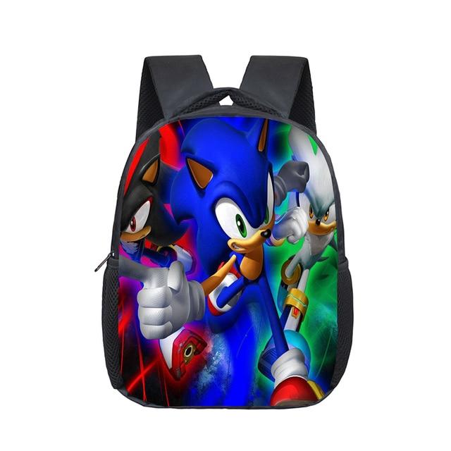 12 Inch Mario Bros Sonic Boom Hedgehogs Kindergarten School Bags Bookbags Children Baby Toddler Bag Kids Backpack Backpacks Aliexpress