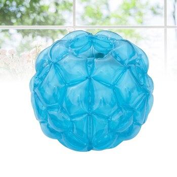 1pc 60*60cm Inflatable PVC Bumper Ball Body Zorbing Ball Zorb Bubble Soccer for Kids Children Adult Toy (Transparent Blue) 0 8mm pvc 1 2m 1 5m 1 8m air bumper ball body zorb ball bubble football bubble soccer zorb ball on sale
