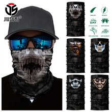 Magic 3D Seamless Horror Ghost Death Skull Neck Warmer Half