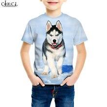 Футболка с изображением собаки хаски Повседневная футболка 3d