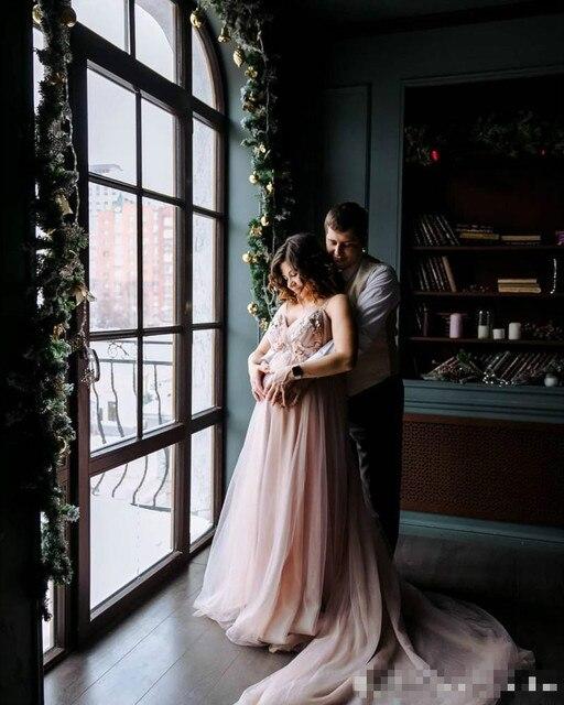 Фото румяна розовый бохо свадебное платье для беременных женщин сексуальные цена