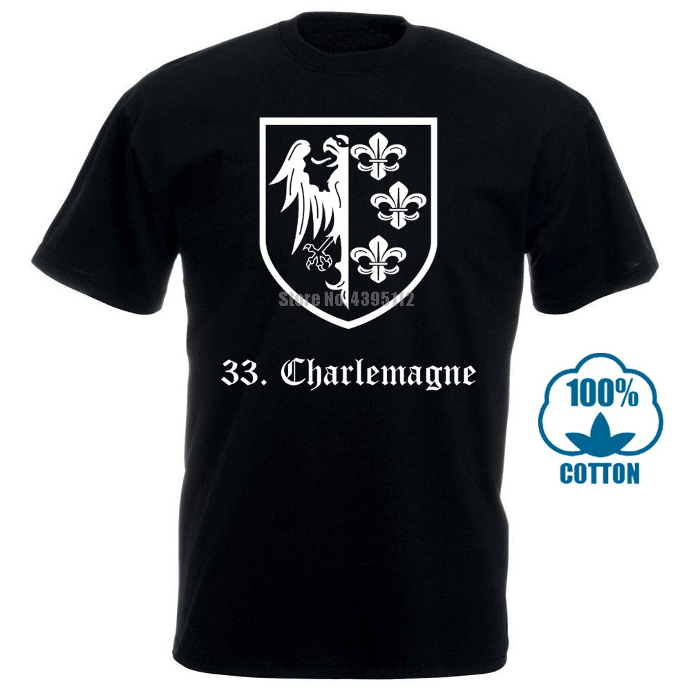 100% Cotton Summer Mens Summer Tops Tees T Shirt 33A Waffen Ss Charlemagne T Shirt Military Collectioncustom T Shirts 011252