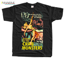 Attack Of The Crab Monsters Movie Poster Mens T Shirts Japanese Streetwear Tshirts Designer T-Shirt 100% Cotton