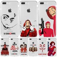 Spain TV Money Heist House Paper La Casa de papel phone case For iPhone 11 12 Mini Pro Max X XR 7 6S 8 Plus Soft Clear TPU Case