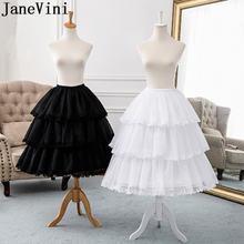 Женская Нижняя юбка janevini с кружевной каймой и регулируемой