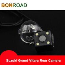 Bonroad คุณภาพดีรถด้านหลังดูที่จอดรถกล้อง HD Night ไฟ LED สำหรับ Suzuki Grand Vitara กล้องที่จอดรถสาย