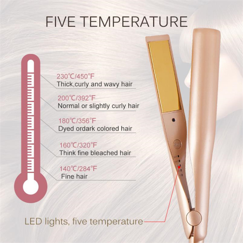 Image 3 - 2 in 1 Twist Hair Curling & Straightening Iron Hair Straightener Hair Curler Curling Iron Wet & Dry Hair Styler Styling Tools-in Curling Irons from Home Appliances