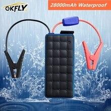 GKFLY водонепроницаемый 28000 мАч автомобильный стартер Power Bank 12V 1000A портативное пусковое устройство Автомобильное зарядное устройство для бензина 8.0L дизель 6.0L