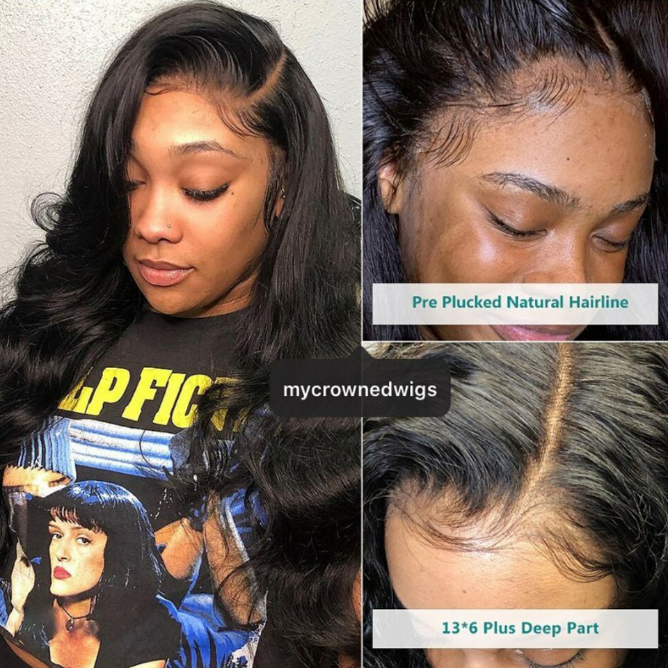 Body Wave Lace Front Human Hair Wigs 360 Lace Frontal Wig Pre Plucked With Baby Hair Remy Brazilian 13x6 Lace Front Wig