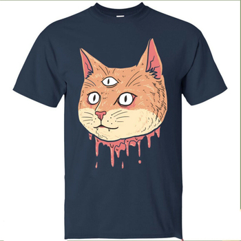 Trippy Hippie Cat Mens T Shirt Guys Vintage Style Acid Psychedelic Clothing Tee Newest Fashion Tee Shirt