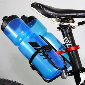 Uchwyt na bidon rowerowy uchwyt na bidon rower MTB kolarstwo podwójna butelka na bidon uchwyt na półkę akcesoria rowerowe tanie i dobre opinie CN (pochodzenie) Bottle Holder Adapter Other Black Red Gray 6061 Aluminum Alloy 4 inner triangle about 80mm 3 15in about 22 2-31 8mm 0 87-1 25in