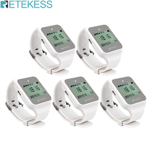 5pcs Retekess TD108 Wireless Calling System Restaurant Pager Waiter Call Multi Language Wireless Watch Receiver For Cafe Factory