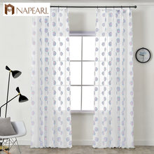NAPEARL 1 Piece Tulle Curtains Claws Jacquard Home Decor Modern Design Draperies Child Bedroom Windows Customize Style Elegant(China)