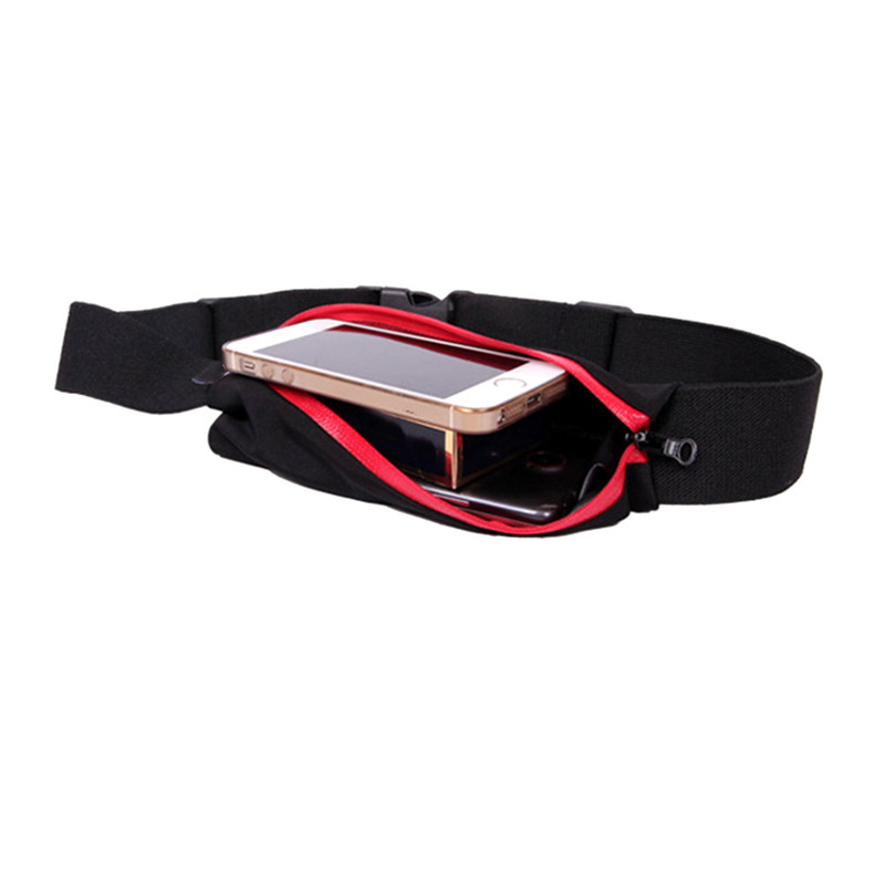 Unisex Running Bag Waist Belt Pocket Bag Outdoor Jogging Sports Reflective Travelling Bags For IPhone Waterproof Bag