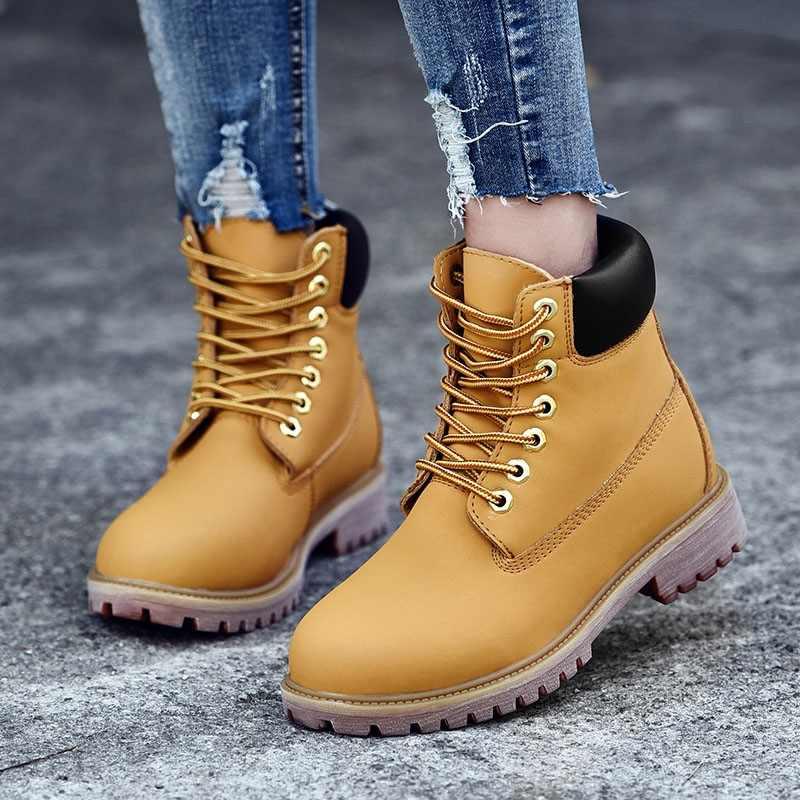 Giày Bốt Nữ Mùa Đông Giày Cho Giày Bốt Martin Nữ Mắt Cá Chân Giày Nữ Mùa Đông Giày Nữ Bota Nữ Boot Lông Ấm Áp Botas mujer