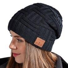 Беспроводная Bluetooth музыкальная шапка, Шапка-бини, наушники, наушники, умная гарнитура, динамик с микрофоном, Спортивные Вязаные шапки, лучши...