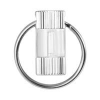 Tritium Self Luminous Key Ring Outdoor Waterproof Ultralight Glow In The Dark Keychain Ring Emergency Survival Mini Light Tools