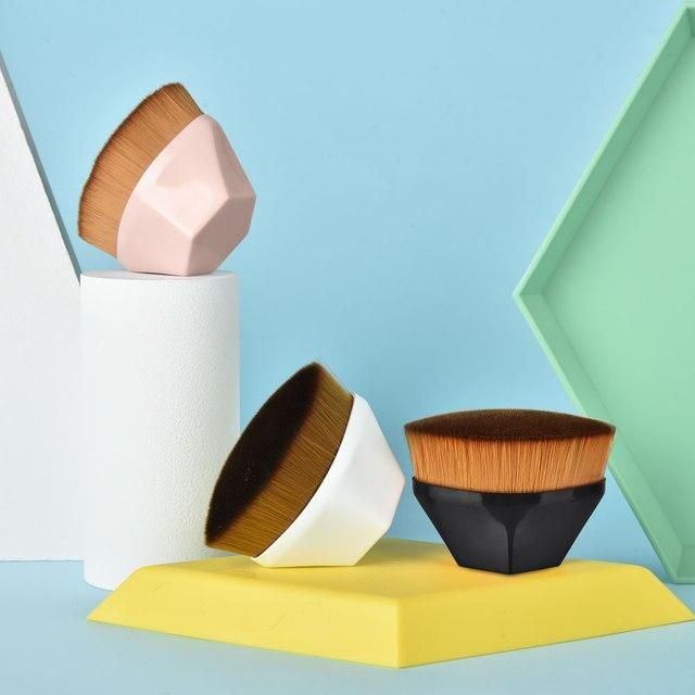 Pincéis de maquiagem fundação escova bb creme solto em pó plana kit conjunto feminino compõem a ferramenta cosméticos beleza 6