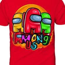 T-Shirt Kids Tops Children Clothes 3d-Print Funny Among Us Girls Baby Boys Cartoon