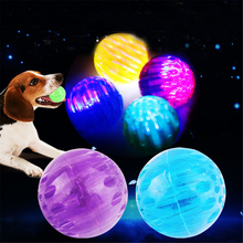 dog toy ball pet toy bite resistant sound making elastic ball large dogs molar golden retriever teddy tooth cleaning training ba Pet Rubber Elastic Flash Ball Toy Bite Resistant Dog Molar Chew Toys Puppy Cleaning Teeth Interactive Training Teething Balls