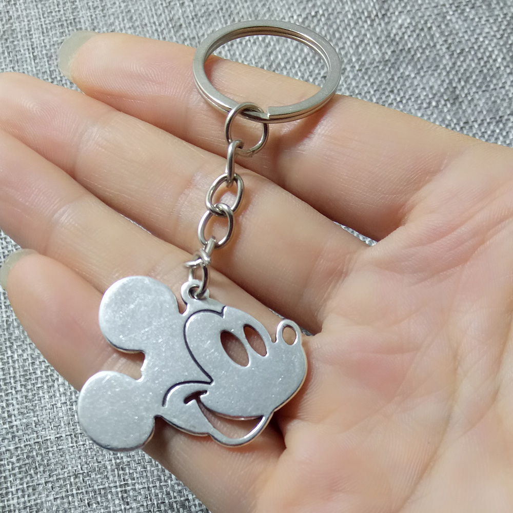 NEW Coming metal Mickey Anime Key Chain alloy Figure Keyring cute Toy Keychain Keyholder Birthday Gifts Unisex image