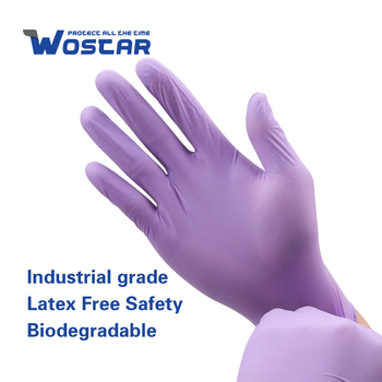 Rękawice nitrylowe Mechanic 100 szt Fioletowe kuchenne jednorazowe rękawice bezpudrowe czyste domowe wodoodporne rękawice robocze fioletowe S-XL tanie i dobre opinie Wostar NONE CN (pochodzenie) RĘKAWICE ROBOCZE DN-1861 Nitrile Work Gloves Food Grade Purple cleaning gloves