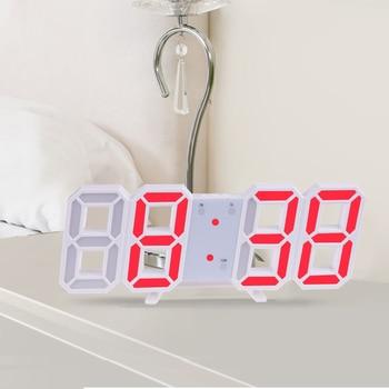 3D Large LED Digital Wall Clock Date Time Celsius Nightlight Display Table Desktop Clocks Alarm Clock From Living Room 13