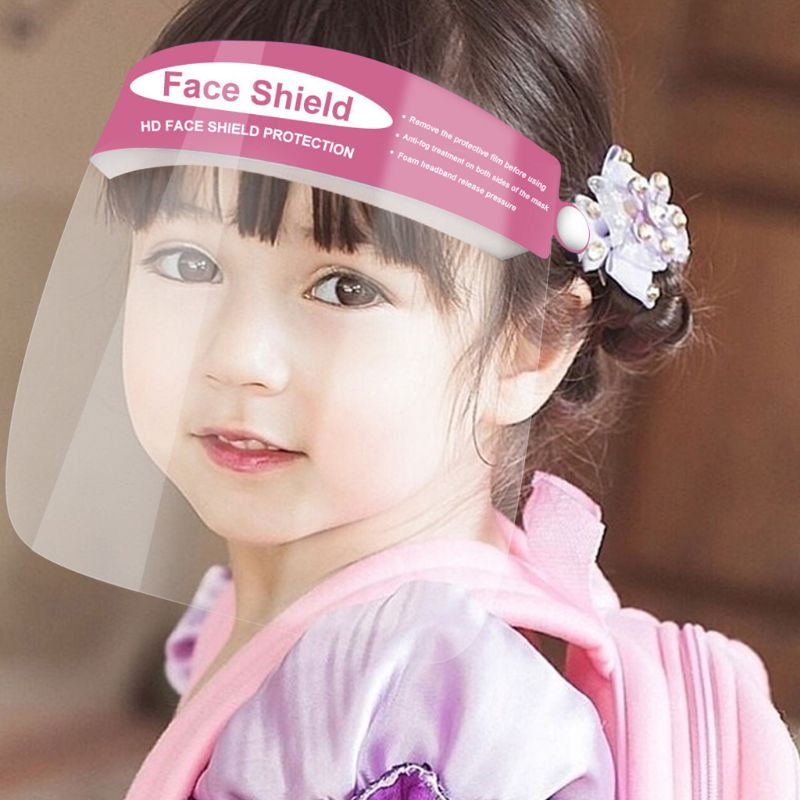 Children Kids Safety Full  Double Sided Anti-Fog Clear Anti Splash Dust-Proof Protective Isolation Visor Guard