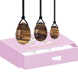 Image 4 - Drop Shipping Yoni Egg Set Tiger eyes Yoni Wand Drilled Jade Eggs Kegel Exerciser Undrilled Love Eggs Feminine Hygiene Product
