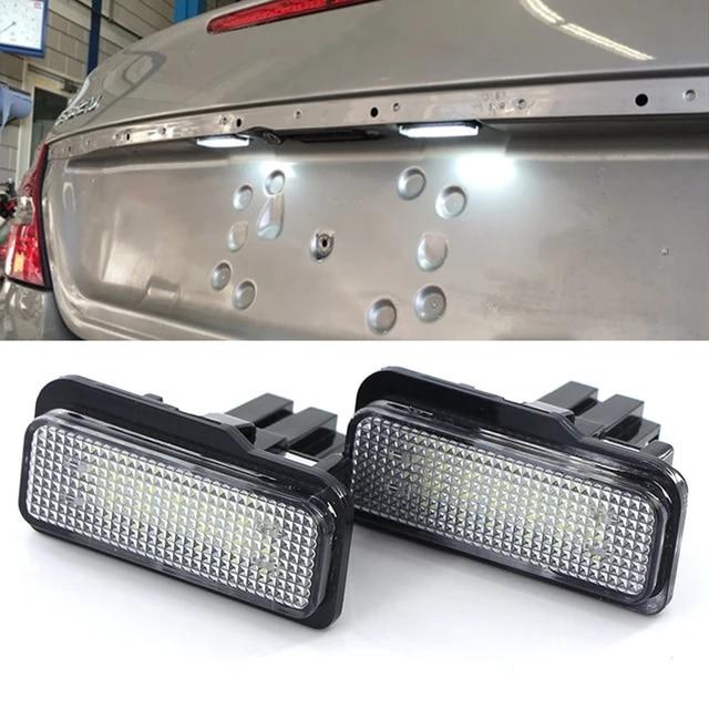 2 LUCI TARGA LED CANBUS RESISTENZA MERCEDES CLS W219 G1E7