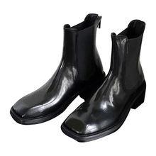 Женские ботинки на молнии ahigo черные короткие толстой подошве